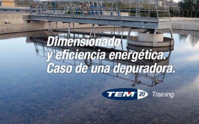 Dimensionado y eficiencia energética. Caso de una depuradora.